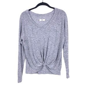 UGG Fallon Grey Heather Soft Terry Knit Knot Top